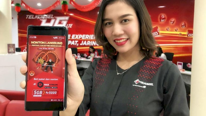 Aplikasi video streaming Telkomsel, MAXstream.