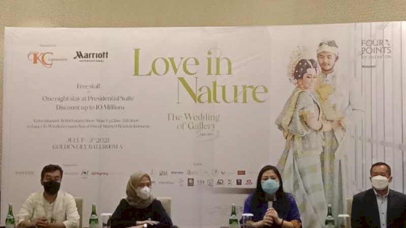 Konferensi pers Wedding Expo Hotel Four Points by Sheraton Makassar, Kamis (24/6/2021).
